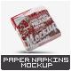 Square Paper Napkins Mock-Up - GraphicRiver Item for Sale