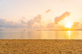 Beautiful tropical beach sea ocean with cloud and sky at sunset or sunrise time - PhotoDune Item for Sale