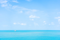 Beautiful nature of sea ocean with white cloud and blue sky - PhotoDune Item for Sale