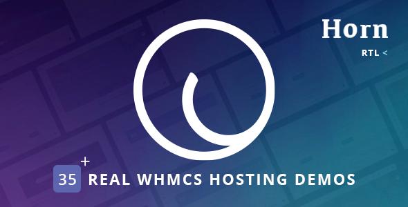 Horn - WHMCS Dashboard Hosting Theme