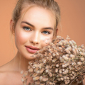 Closeup portrait of young beautiful woman with a healthy  skin of the face. - PhotoDune Item for Sale