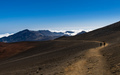 People Walking on the Crater of a Volcano in Haleakala National Park - PhotoDune Item for Sale