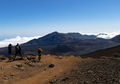 People Observing the Landscape of a Crater and Mountains in Haleakala National Park - PhotoDune Item for Sale