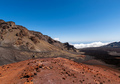 Person Observing Landscape of Crater, Mountains and Clouds in Haleakala National Park - PhotoDune Item for Sale