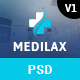 Medilax - Medical and Health Care PSD Template - ThemeForest Item for Sale