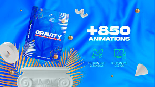 Gravity   Social Media and Broadcast Pack