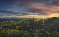 Prosecco Hills, vineyards and San Lorenzo church. Unesco Site. Veneto, Italy - PhotoDune Item for Sale