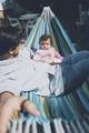 Little baby enjoying a sunny day in holidays with dad - PhotoDune Item for Sale
