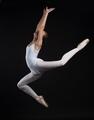 ballerina jumping isolated on black background - PhotoDune Item for Sale