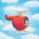 Boy Flies A Helicopter - GraphicRiver Item for Sale