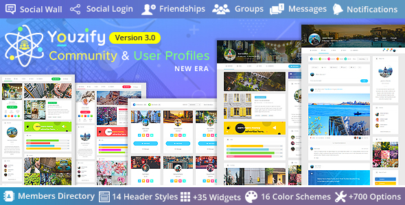 Youzify (formerly Youzer) – BuddyPress Community & WordPress User Profile Plugin, Gobase64