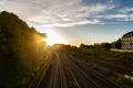 Train Tracks at Sunset.Copenhague, Denmark. - PhotoDune Item for Sale