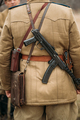 Re-enactor Dressed As Russian Soviet Infantry Soldier Of World War II With Sub-machine Gun Weapon - PhotoDune Item for Sale