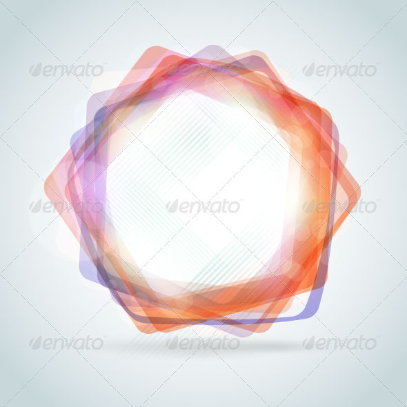 Abstract polygon frame