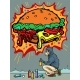 Teenage Boy Draws a Graffiti Image of a Burger - GraphicRiver Item for Sale