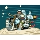 Astronaut Biker on a Space Motorcycle - GraphicRiver Item for Sale