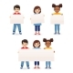 Smiling Kids Holding Blank Boards - GraphicRiver Item for Sale