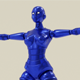 Blue Robot Woman - 3DOcean Item for Sale