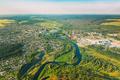 Dobrush, Gomel Region, Belarus. Aerial View Of Skyline Cityscape In Summer Day - PhotoDune Item for Sale
