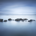 Rocks and soft sea, long exposure photography landscape. - PhotoDune Item for Sale