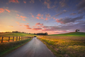 Sunset landscape in Maremma. Road and Rolling Hills. Bibbona,Tuscany, Italy - PhotoDune Item for Sale