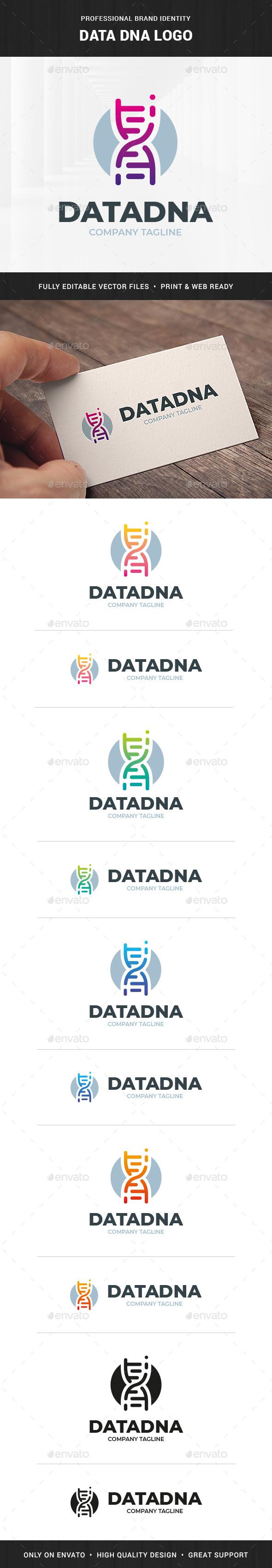 Data DNA Logo Template