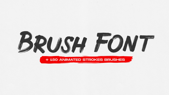 Brush Animated Font
