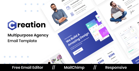 Download Creation Agency - Multipurpose Responsive Email Template