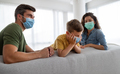 Modern family at preventive quarantine due to global pandemia - PhotoDune Item for Sale