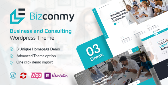 Bizconmy – Business and Consulting WordPress Theme, Gobase64
