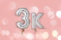 Silver Number Balloons 3K - PhotoDune Item for Sale