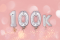 Silver Number Balloons 100K - PhotoDune Item for Sale