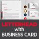 Letterhead with Business card template - GraphicRiver Item for Sale