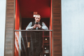 A businessman on an office balcony - PhotoDune Item for Sale