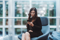 A business lady using her smartphone - PhotoDune Item for Sale