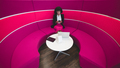 Businesswoman on a pink bent sofa - PhotoDune Item for Sale