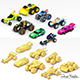 Low poly Cartoon Cars toys - 3DOcean Item for Sale