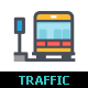 Traffic and Accident Color Icon - GraphicRiver Item for Sale