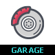 Garage and Autopart Color Icon - GraphicRiver Item for Sale