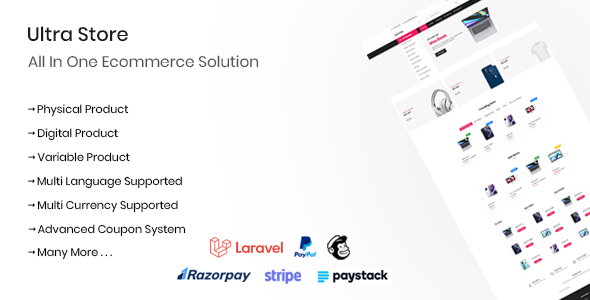 Ultra Store - All In One Ecommerce Solution