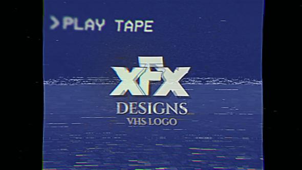 Damaged VHS Tape Logo Intro