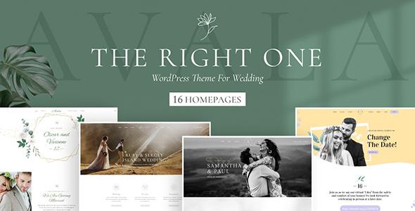 Avala - Wedding WordPress Theme