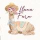 Llama Farm Watercolor Clipart - GraphicRiver Item for Sale