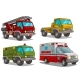 Cartoon Ambulance Fire Department and Police Truck - GraphicRiver Item for Sale
