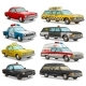 Cartoon Colorful American Old Retro Different Cars - GraphicRiver Item for Sale