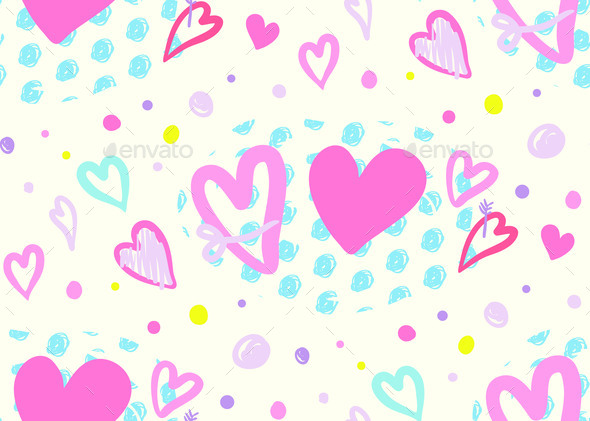 Modern Seamless Pattern for Valentine is Day with