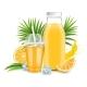 Orange Juice Glass Bottle Plastic Cup Fresh - GraphicRiver Item for Sale