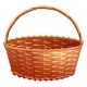 Wicker Basket Made of Willow Rods - GraphicRiver Item for Sale