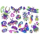 Set of Decorative Stylized Bugs and Insects - GraphicRiver Item for Sale