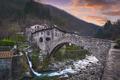 Fabbriche di Vallico village and old bridge over the creek. Apuane park. Garfagnana, Tuscany, Italy. - PhotoDune Item for Sale